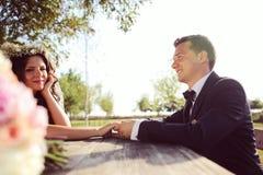 Beautiful couple in the sunlight Stock Photo