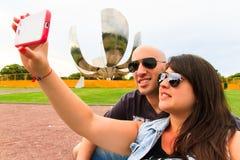 Beautiful Couple taking a selfie Stock Image