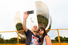 Beautiful Couple taking a selfie Royalty Free Stock Photos