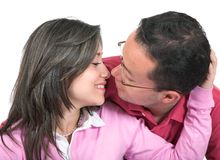 Beautiful couple about to kiss Royalty Free Stock Photos