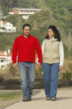 Beautiful couple walking Stock Images