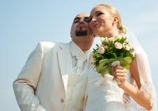Beautiful couple at the wedding Stock Photos