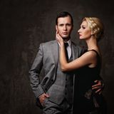 Beautiful couple  on white background Stock Photo