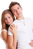 Beautiful couple in white clothes Royalty Free Stock Images