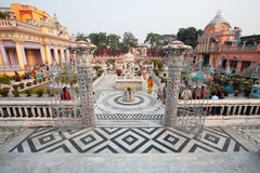 Beautiful court of Jain temple Stock Image
