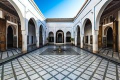 Beautiful courtyard in Bahia Palace,Morocco.  Royalty Free Stock Photography