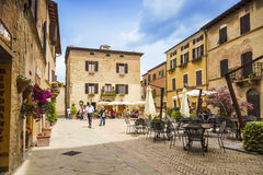 Beautiful courtyard in Tuscany Royalty Free Stock Image