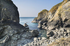 Beautiful cove on bright sunny day Stock Images