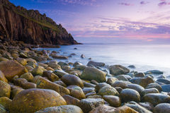 Beautiful Cove At Dusk Royalty Free Stock Image