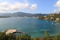A beautiful cove in St-Thomas Royalty Free Stock Photos