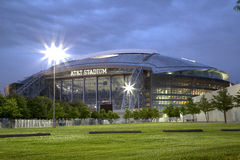 Beautiful Cowboy stadium night scenes Stock Photo