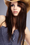Beautiful Cowgirl Stock Photography