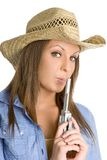 Beautiful Cowgirl Royalty Free Stock Images