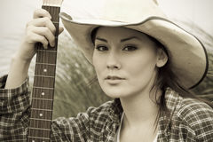 Beautiful cowgirl royalty free stock photo