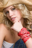 Beautiful Cowgirl Royalty Free Stock Photos