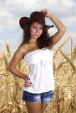 Beautiful Cowgirl Girl Stock Images