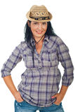 Beautiful cowgirl with hat Royalty Free Stock Images