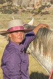 Beautiful Sexy Cowgirl With Horse Royalty Free Stock Image
