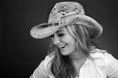 Free Beautiful Cowgirl Laughing Royalty Free Stock Images - 14505119