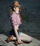 Beautiful cowgirl Stock Photo