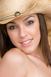 Beautiful Cowgirl Smiling Stock Images