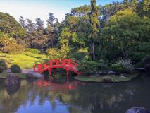 Beautiful and cozy Japanese Garden in France royalty free stock photo