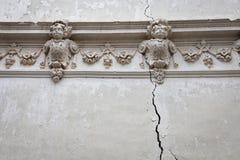 Beautiful Cracked Wall Royalty Free Stock Photos