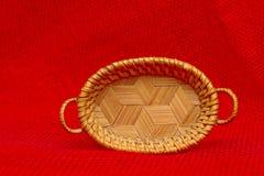 Beautiful Crafmanship - miniature Wicker Basket Royalty Free Stock Image