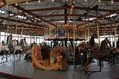 Beautiful craftsmanship in restored carousel, top floor of State Museum,Albany,New York,2015 Stock Photography