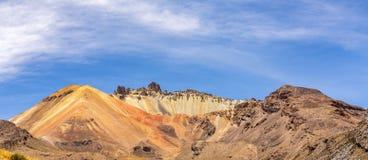Beautiful   crater of Volcano Tunupa in Bolivia Royalty Free Stock Photos