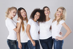 Beautiful and crazy women Royalty Free Stock Photo