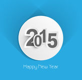 Beautiful creative blue colorful new year 2015 background Stock Images