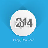 Beautiful creative colorful new year 2014 backgrou. Nd Royalty Free Stock Photo