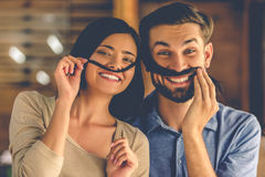 Beautiful creative couple royalty free stock images