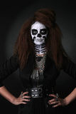 Beautiful Creative Face Paint Day of the Dead Concept and Theme Stock Photos