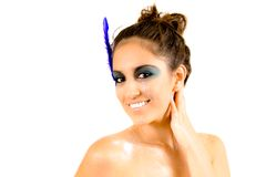 Beautiful Creative Fashion Makeup. Fantasy Make-up Royalty Free Stock Images