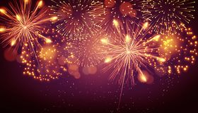 Beautiful creative fireworks scene background