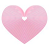 Beautiful creative heart with stripes on a white background Royalty Free Stock Images