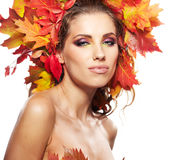 Beautiful creative makeup Royalty Free Stock Image