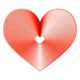 Beautiful creative heart with stripes on a white background Stock Photo