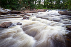 Beautiful creek with cascades landscape Royalty Free Stock Photography