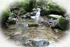 Beautiful Creek Nature Background With White Frame High Quality