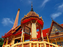 Beautiful crematorium at Thai temple Royalty Free Stock Photo