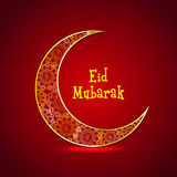 Beautiful crescent moon for Eid celebration. Royalty Free Stock Photos