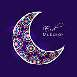 Beautiful crescent moon for Eid festival celebration. Royalty Free Stock Photos