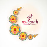 Beautiful crescent moon for Eid festival celebration. Royalty Free Stock Photography
