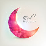 Beautiful crescent moon for Eid festival celebration. Royalty Free Stock Images