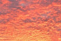 Beautiful crimson sunset . Purple cloudy sky stock images