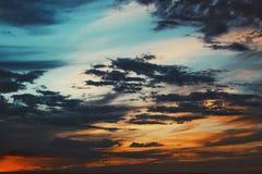Beautiful crimson sunset sky royalty free stock image