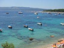 Beautiful Croatia. Nice view of Bol beach in Brac island - Croatia Stock Photo